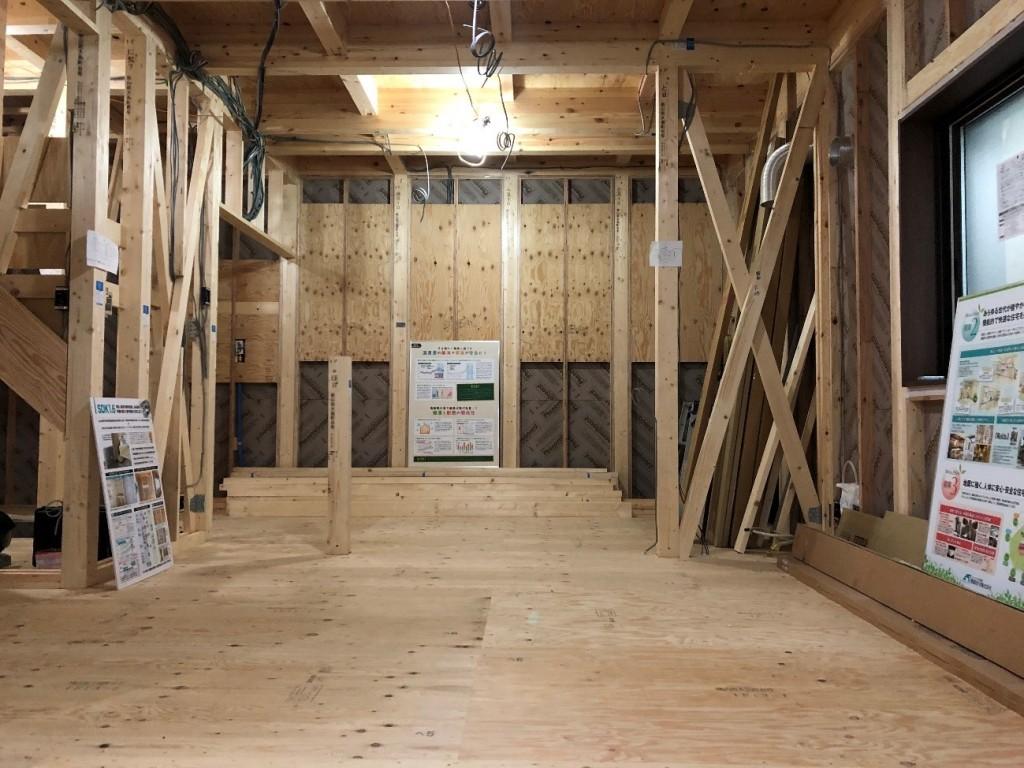 Reco.シリーズ南大島モデルハウスの構造写真です