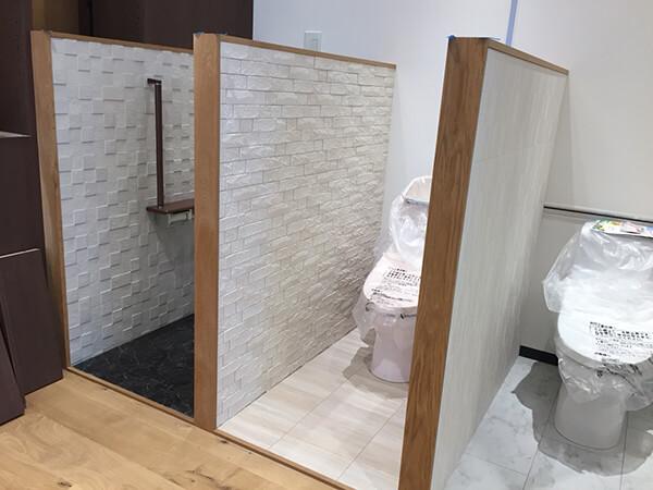ショールーム内のトイレ、トイレ、トイレ