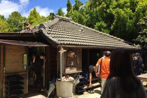 沖縄風の民家へ