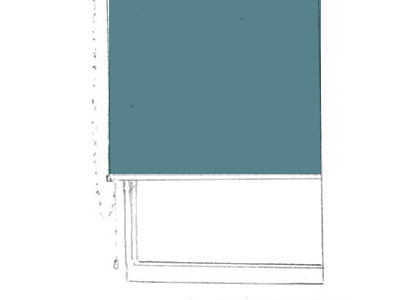 ロールスクリーン: 小窓やスリット窓に適しており、たたみしろがなく、すっきりとした納まりです。