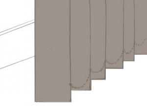 縦型ブラインド: スッキリとしたスタイル 開閉が少ない窓におすすめ